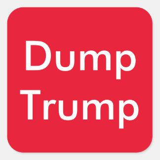 AntiTrumpf, Dump-Trumpf-Aufkleber Quadratischer Aufkleber