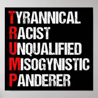 AntiTrumpf-lustiges Akronym Poster
