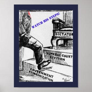 Antitrumpf-politischer Cartoon - geänderter alter Poster