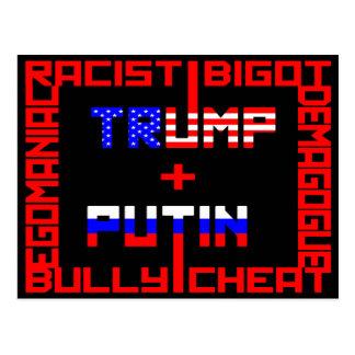 AntiTrumpf+Putin Postkarte