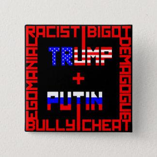 AntiTrumpf+Putin Quadratischer Button 5,1 Cm