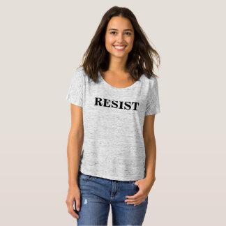 Antitrumpf widerstehen dem Schwarz-weißen T-Shirt