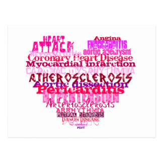AntiValentinstag Herz Postkarte