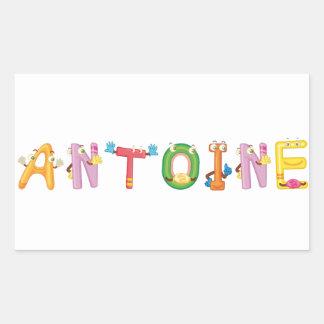 Antoine-Aufkleber Rechteckiger Aufkleber