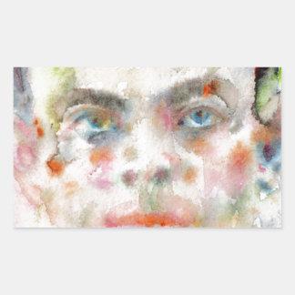Antoine de saint exupery - Aquarellporträt Rechteckiger Aufkleber
