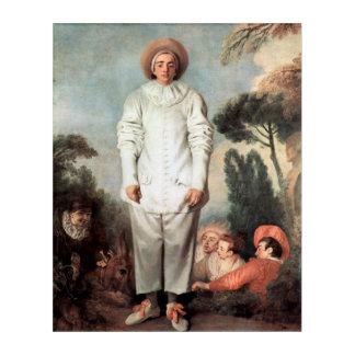 ANTOINE WATTEAU - Pierrot (Gilles) 1718 Acryl Wandkunst