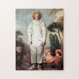 ANTOINE WATTEAU - Pierrot (Gilles) 1718 Puzzle