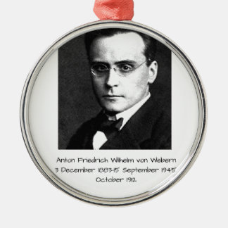 Anton Friedrich Wilhelm von Webern Silbernes Ornament