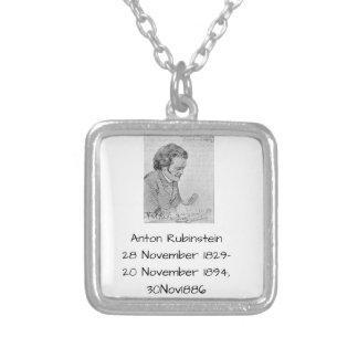 Anton Rubinstein am 30. November 1886 Versilberte Kette