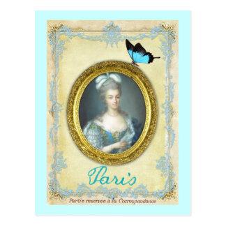 Antoniette und Paris Postkarte