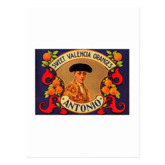 Antonio süße Valencia-Orangen Postkarte