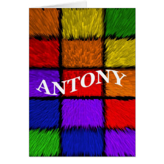 ANTONY (männliche Namen) Karte
