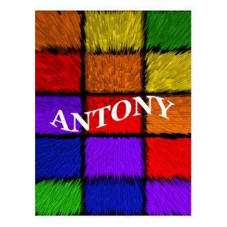 ANTONY (männliche Namen) Postkarte