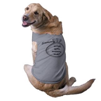 ANTRAG ÄRMELFREIES Hunde-Shirt