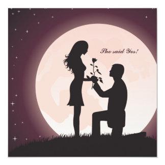 Antrag durch Mondschein-Verlobungs-Einladung Quadratische 13,3 Cm Einladungskarte