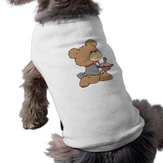 Antrag- oder Ringträger-Teddybärentwurf Ärmelfreies Hunde-Shirt