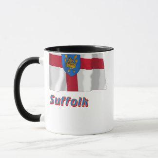 Antrag-wellenartig bewegende Flagge Suffolk-St. Tasse