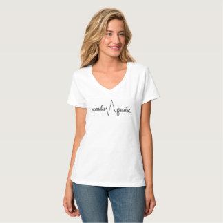 Antrieb findet T-Stück der V-Hals der Frauen T-Shirt