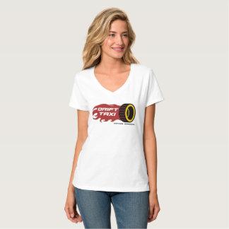 Antrieb-Taxi-Damen V-Hals T-Stück T-Shirt