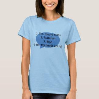 Antwortende allgemeine Doppelfragen - T-Shirt