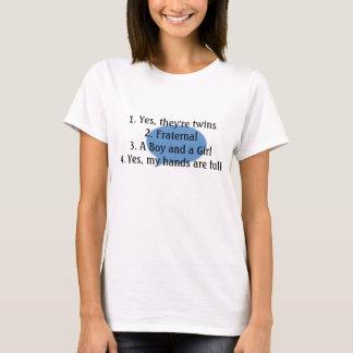antwortendes Doppelfragent-stück T-Shirt