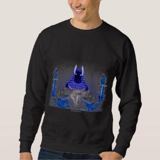 Anubis Ankh das Sweatshirt der Flammen-Männer