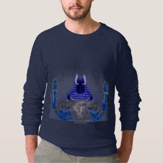 Anubis Ankh flammt der Raglan-Sweatshirt der Sweatshirt