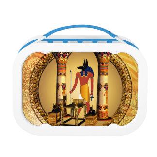 Anubis auf goldenem Hintergrund Brotdose