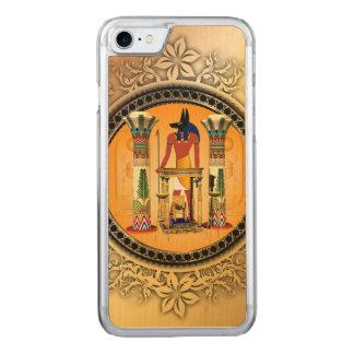 Anubis auf goldenem Hintergrund Carved iPhone 8/7 Hülle