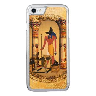 Anubis, der ägyptische Gott Carved iPhone 8/7 Hülle