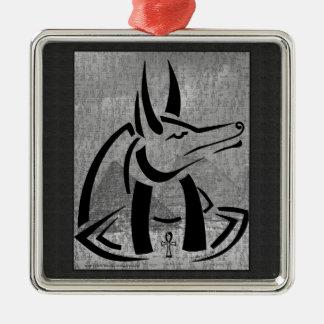 Anubis erstklassige quadratische Verzierung Silbernes Ornament