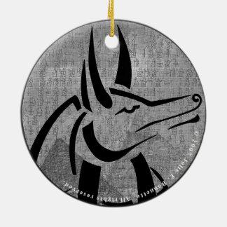 Anubis erstklassige Runde Keramik Ornament