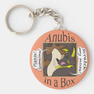 Anubis in einem Kasten (geschlossene Augen) Schlüsselanhänger
