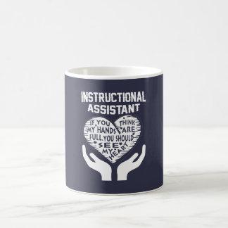 Anweisender Assistent Kaffeetasse
