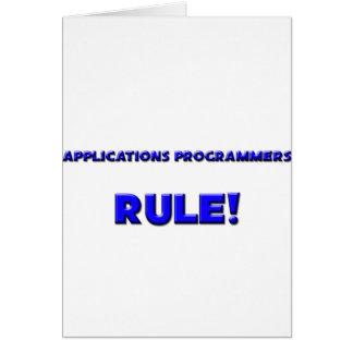 Anwendungs-Programmierer-Regel! Karte