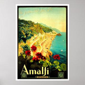 Anzeige Amalfis Italien Italien VintageTravel Poster