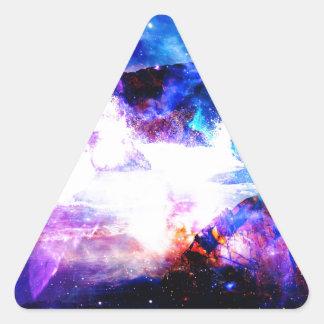 Anzeige Amorem Amisi irgendwo auf dem Indischen Dreieckiger Aufkleber
