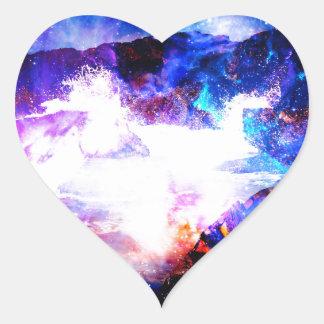 Anzeige Amorem Amisi irgendwo auf dem Indischen Herz-Aufkleber