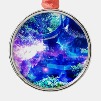 Anzeige Amorem Amisi Ruhe-Garten Silbernes Ornament