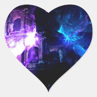 Anzeige Amorem Amisi Träume der römischen Muster Herz-Aufkleber