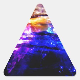 Anzeige Amorem Amisi Vanille-Dämmerung Dreieckiger Aufkleber