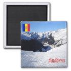 ANZEIGE - Andorra - Grau Roig Quadratischer Magnet