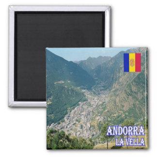 ANZEIGE - Andorra - La Vella Quadratischer Magnet