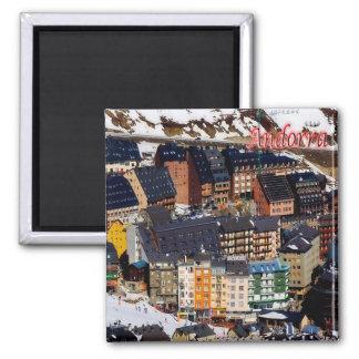 ANZEIGE - Andorra - Panorama Quadratischer Magnet