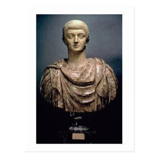 ANZEIGE c.350 Constantines I (c.274-337) (Marmor) Postkarte