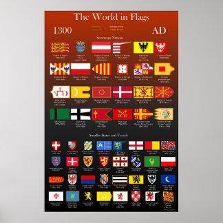 ANZEIGE Flaggen 1300 der Welt Poster