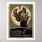 Anzeige für 'Bock-Bier von Lowenbrau Brauer Poster