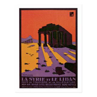 Anzeige Vintager Reise Syriens (Palmyra) und des Postkarte