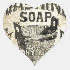 Anzeigen-waschende Seife Herz-Aufkleber