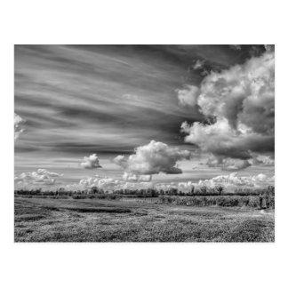 Anziehende Wolken (B&W) Postkarten